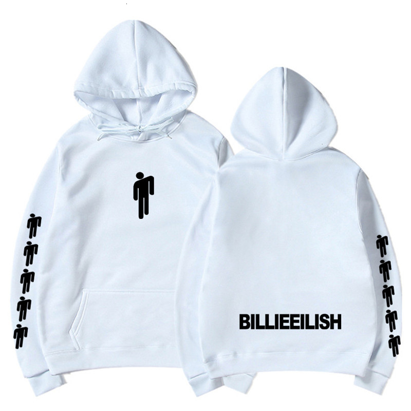 Billie Eilish Fashion Printed Hoodies Women/Men Long Sleeve Hooded Sweatshirts Hiphop Casual Trendy Streetwear Hoodies 12 Colors