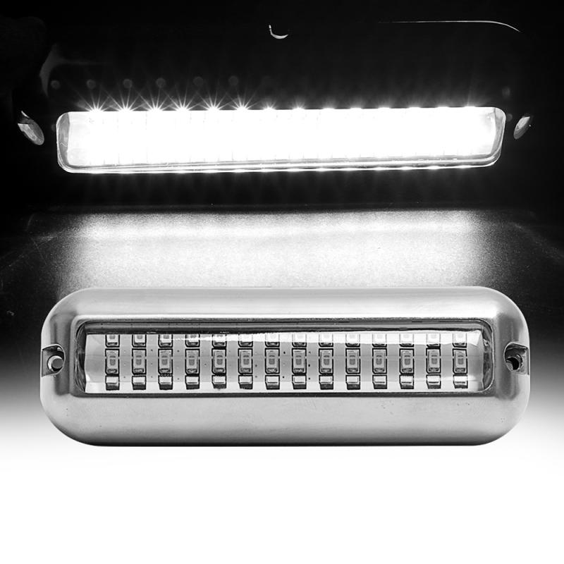 42LED 80W 538LM Stainless Steel Boat Transom Light Underwater Pontoon Marine Ship Boat Accessories Light Waterproof Marine Light