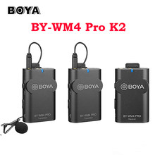 BOYA-BY-WM4 Pro K6 K5 K4 K3 K2 K1, micrófono inalámbrico, interfaz tipo C de micrófono Lavalier para teléfono inteligente, iPhone y Android