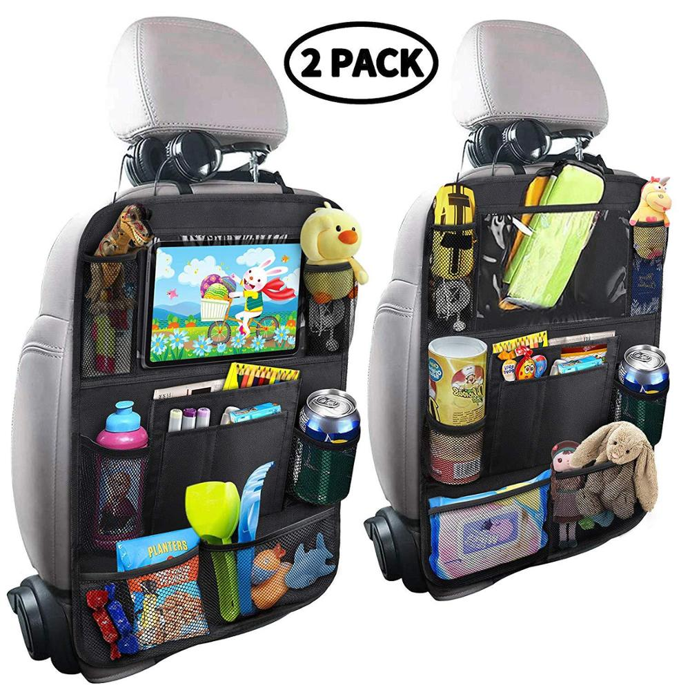 Child Car Seat Storage Kick - Proof Back Cover Touch Screen Storage Bag Car Seat Cushion Baby Car Accessories Trim Drop-shipping