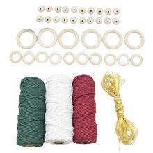 43pcs macrame cotton cord twine string rope craft for diy knitting