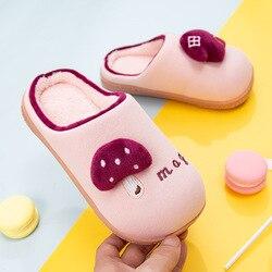 Nowa jesienna zima dziecięce kapcie rodzic-dziecko trampki dla małego dziecka niemowlę dzieci ciepłe buty chłopcy dziewczęta pluszowe miękkie podeszwy kapcie