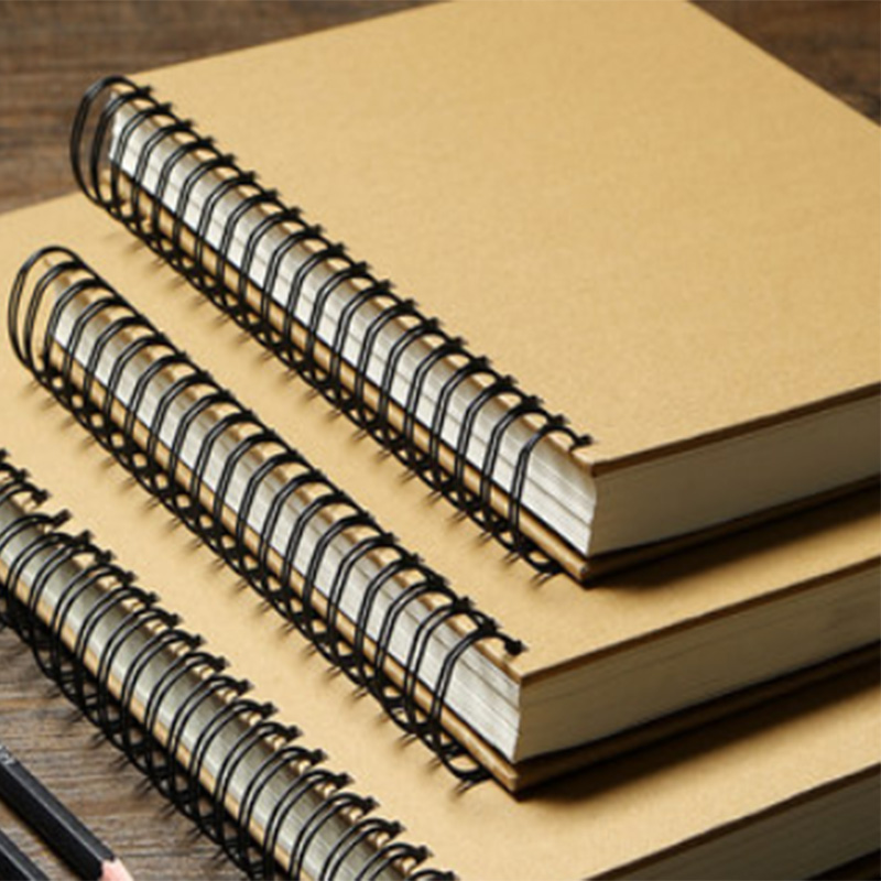 Retro 8K 16K Sketchbook Thicken Kraft Paper Notebook Sketch Painting Diary Journal Student Watercolor Note Pad Book Memo