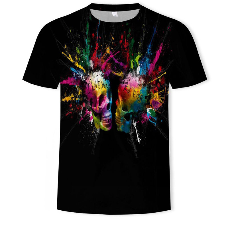 KISS Heavy Metal Music крутая классическая рок-группа череп голова футболка s Мода Rocksir Футболка мужская 3D Футболка DJ футболка мужская рубашка