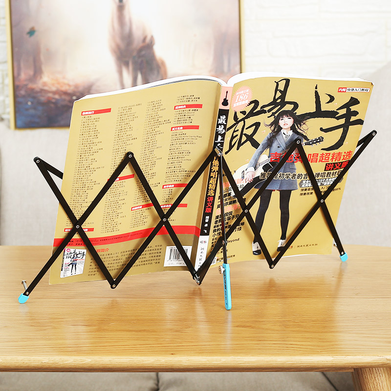 Collapsible Music Stand Stainless Steel Sheet Music Holder Support High Quality Foldable A4-A6 Music Score For IPad Plus  Sheet
