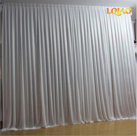 Silk Sheer Drapes Panels Hanging Curtains Party Backdrop Wedding Decoration Drape Big Events Background Cloth 7 Colors 10X10FT