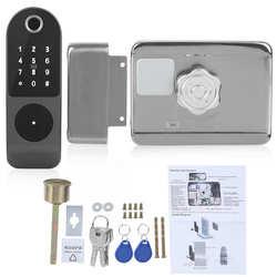 Fechadura Eletronica Wifi Deurslot Vingerafdruk Wachtwoord Ic Card Key Bedrading Gratis Digitale Gate Toegangscontrole Voor Tuya