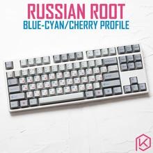 Kprepublic 139 러시아어 루트 러시아 글꼴 언어 블루 시안 체리 프로필 염료 하위 keycap pbt gh60 xd60 xd84 tada68 87 104