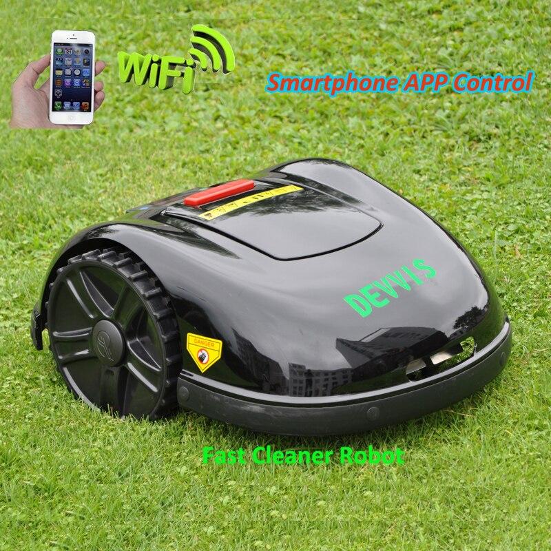 Espagne entrepôt pas de taxe 5th génération DEVVIS automatique Intelligent Robot coupe-herbe E1600T avec 13.2ah li-ion pour grande pelouse