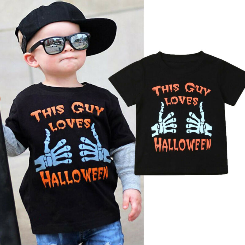 T-Shirt Short-Sleeve Skull Fancy Halloween Baby-Girl Kids Personality Blouses Tee-Tops
