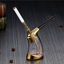 Lightweight portable cigarette kettle with multiple filters hookah  glass accessories