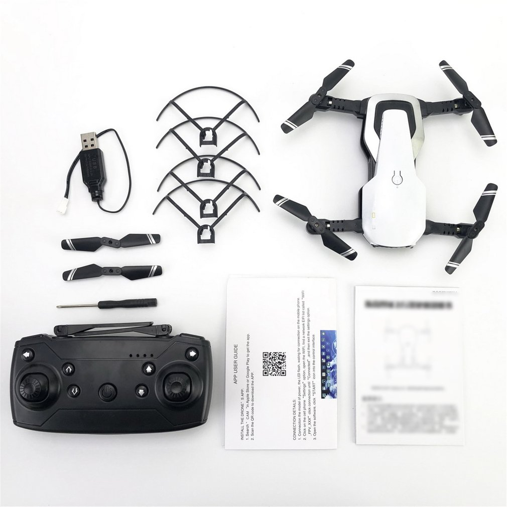 H2 480P HD Camera RC Drone Foldable  FPV RC Helicopter Aircraft Headless Mode Optical Flow Remote Control Toys