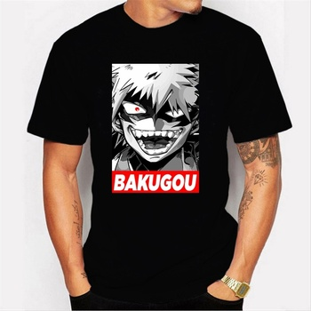 Men's Tops Tees T-Shirts Clothing My Hero Academia BAKUGOU Print Summer T-Shirt Short Sleeve O-Neck T-Shirt Tops for Men/women chief t shirts custom short rainbow six siege wholesale crewneck rogue tops t shirt printed tops shirts for men summer autumn