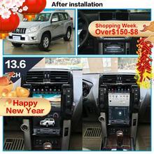 Tesla style Car Multimedia Player head unit for TOYOTA Land Cruiser Prado 150 2010 - 2013 GPS navigation car Radio stereo no dvd
