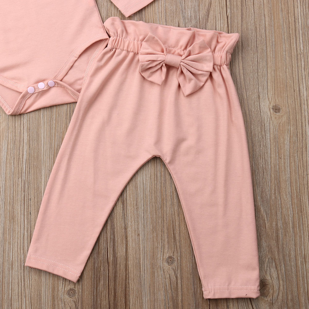 Emmababy 2PCS Toddler Kids Baby Girls Ruffle Bodysuit Romper Tops Pants Winter Outfits Clothes