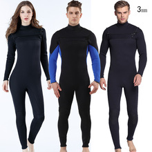 цены на New Men/women 3mm Diving Neoprene Wetsuit Long Sleeve Keep warm Wetsuit for Men Women Swimming Surf Scuba Equipment в интернет-магазинах
