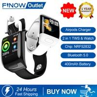 Finow 2020 nuovo 2 In 1 TWS Smart Watch G36 auricolare Bluetooth Wireless BT 5.0 chiamata HD grande schermo Smartwatch Standby 30 giorni