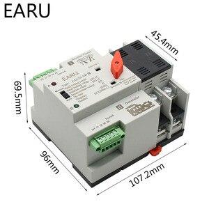 Image 2 - 2/3/4P 100A 110 V/220 V Mini ATS Automatic Transfer Switch Elektrische Wahlschalter dual Power Schalter PV Solar Energie Din Schiene