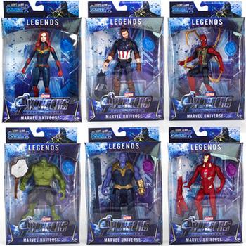 Nowy LED Thanos dzieci marvel czarna pantera SpiderMan kapitan ameryka Thor Iron Man Hulk Avengers zabawki figurki akcji lalka Model tanie i dobre opinie Disney 4-6y 7-12y 12 + y CN (pochodzenie) Unisex the avengers 16cm On Avengers Robot Wersja zremasterowana Peryferyjne the avengers figure
