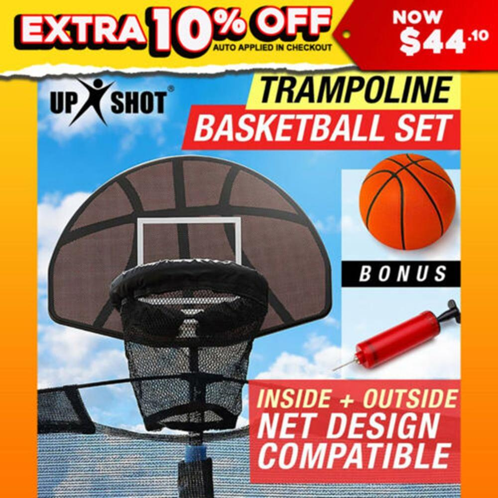 Universal Design Durable Use Trampoline Basketball Hoop Ring Backboard Ball Set Basketball Hoop Supplies