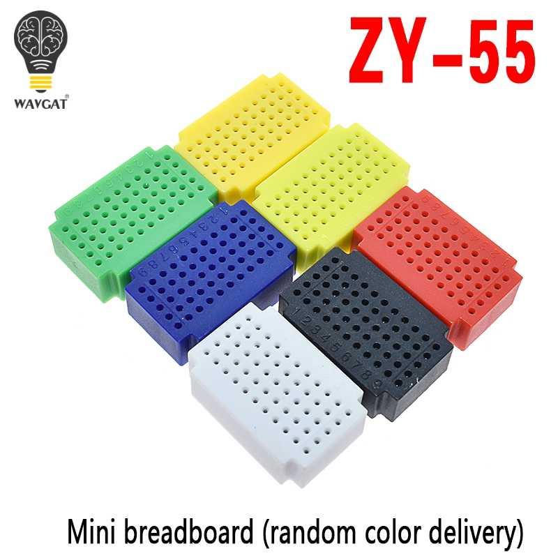 ZY-55 Points sans soudure PCB platine de prototypage Mini Test universel Protoboard bricolage planche à pain pour arduino lego