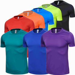 High quality spandex Men Women Kids Running T Shirt Quick Dry Fitness Shirt Training exercise Clothes Gym Sports Shirts Tops
