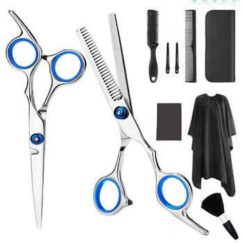 3 8 9 10 sztuk profesjonalne nożyczki fryzjerskie zestaw ścinanie włosów nożyczki włosów nożyczki ogon grzebień włosów Cape maszynka do włosów grzebień tanie i dobre opinie 6 7 inch STAINLESS STEEL CN (pochodzenie) Degażówki Professional Hairdressing Scissors Kit Nożyczki do włosów