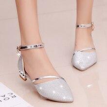 ฤดูร้อนส้นรองเท้าส้นสูงรองเท้าแตะLadyปั๊มคลาสสิกรองเท้าเซ็กซี่รองเท้าผู้หญิงทองเงินหนัง