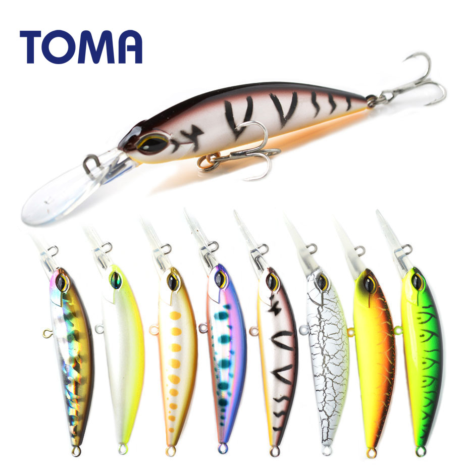 TOMA New Arrival 70S Fishing Lure 70mm 14g Sinking Minnow Wobbler Hard Lure Bass Pike peche isca artificial Bait Tackle