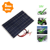 High Power Solar Cell Panel Battery Car Laminated 30W Polycrystalline 18V Led Parts Mountaineering Tools Camping Light