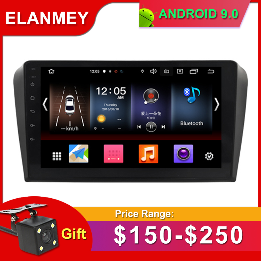 Gift Camera Car Radio for MAZDA 3 2004-2009 Android 9.0 GPS Navigation Bluetooth Touch screen WIFI Car Audio Stere Multimedia image