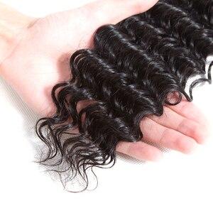 Image 5 - Queenlike 髪製品 3 4 個人間の髪のバンドル閉鎖非レミー織りブラジルでバンドル閉鎖
