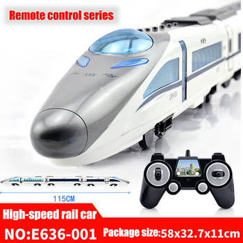 Remote Control Simulation Track Train Children's Toy Rechargeable Voice High Speed Rail Car Parent Child Interactive Toys