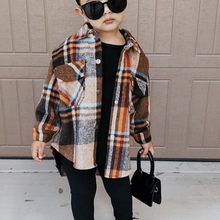 Plaid Shirt Jacket Baby-Girl Fashion Spring Cotton Warm Winter Fall Thick 3-14Y Outfit