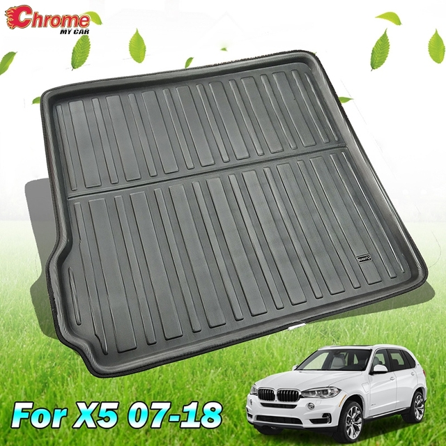 For BMW X5 E70 F15 2018  2017 2016 2015 2014   2007 Boot Mat Rear Trunk Liner Cargo Floor Tray Carpet Pad Protector Waterproof