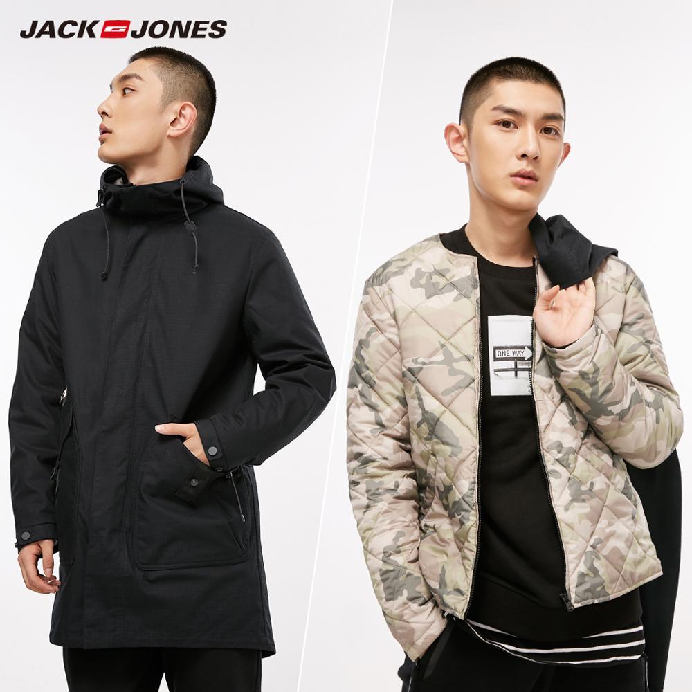 JackJones de los hombres 3 en 1 Parka abrigo ropa de hombres, chaqueta de abrigo de la Universidad de lujo  confección 218309518-in Parkas from Ropa de hombre    3