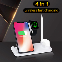 4in1 Wireless Charger for iPhone Samsung 10W Fast W