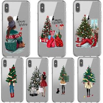 Модный Рождественский силиконовый чехол принцессы для iPhone 11 Pro Max, 5S SE 6s 7 8 Plus X XS XR XS MAX, 2019