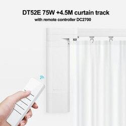 Aanpasbare Super Heel Elektrische Gordijn Track Set 4.5M + Dooya DT52E 75W Motor + RF433Remote Controller DC2700 Voor smart Home