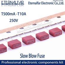 Квадратный предохранитель 0.5A 0.8A 1A 2A 2.5A 3.15A 4A 5A 6.3A 8A 10A 250V 392 Пластик предохранитель T2A ЖК-дисплей ТВ Мощность доска обычно фильтр для очистки воды