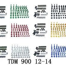 Мотоцикл Полный Обтекатель Болты Комплект болты для кузовных работ для Fit YAMAHA TDM 900 2012