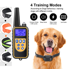 Electric Dog Training Collar 800m Pet Remote Control Rechargeable Waterproof With LCD Display Can Display All Sizes Of Vibration
