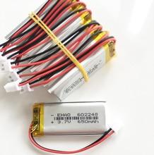 10 قطعة 602248 3.7V 650mAh يبو بطارية قابلة للشحن + JST XHR 2 2.54 مللي متر 2pin التوصيل ل Mp3 GPS لعبة تليفزيونية رئيس MP4