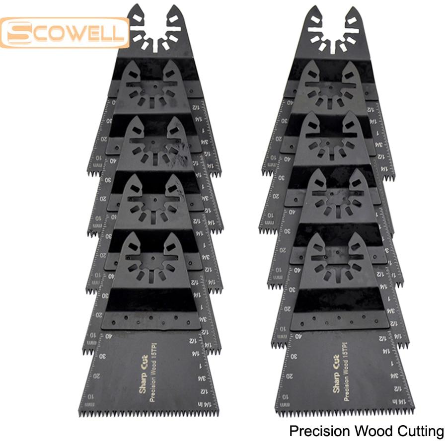 30% DI SCONTO Spedizione gratuita: Lame per seghe multifunzione oscillanti da 68 mm triangolari per taglio del legno di precisione