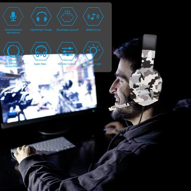 Computador pc gamer fone de ouvido com microfone led luz ruído cancelar alto-som fone de ouvido para ps4 fone de ouvido música estéreo capacete 2