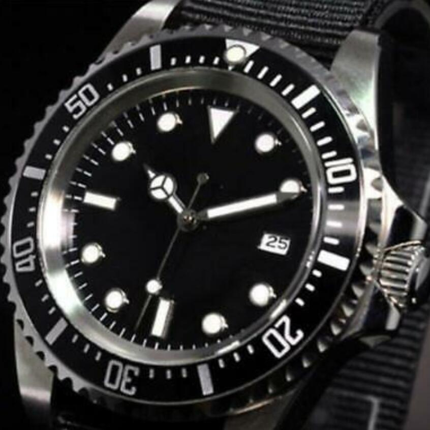 42mm PARNIS Black Sterile Dial Stainless Case Automatic Movement Mens Wristwatch