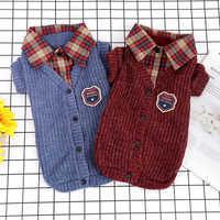 Французская одежда для бульдога одежда для домашних животных для маленьких собак и кошек свитер для собак зимняя одежда для собак Щенок йор...