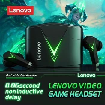 Lenovo LP6 TWS słuchawki bezprzewodowe słuchawki sportowe Bluetooth V5 0 słuchawki do gier bez opóźnień sportowe słuchawki douszne uniwersalne Apple Android tanie i dobre opinie Dynamiczny CN (pochodzenie) Prawdziwie bezprzewodowe Do gier wideo Zwykłe słuchawki do telefonu komórkowego Słuchawki HiFi