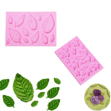 Sugarcraft Silicone Leaves Mold Candy Clay Fondant Cake Decorationg Tool Plant Maple Gum Paste Rose Leaf Bakeware