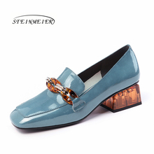 ผู้หญิงฤดูร้อนฤดูใบไม้ผลิเดี่ยว Oxford รองเท้า 2020 ของแท้หนังส้นสูงแฟชั่นรองเท้าผู้หญิง brogues Slipon รองเท้า